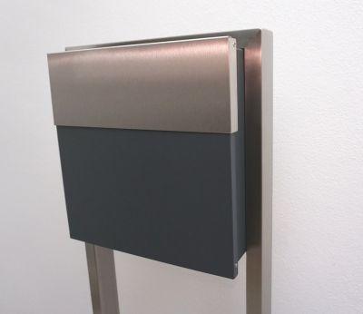 standbriefkasten edelstahl v4a briefkasten freiste edelstahl goldmann. Black Bedroom Furniture Sets. Home Design Ideas