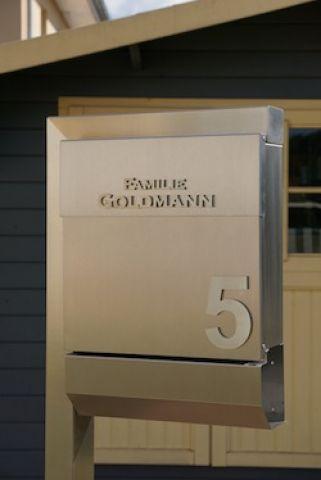 Standbriefkasten Edelstahl V4A Briefkasten freiste - Edelstahl-Goldmann