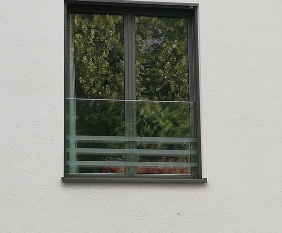 Französischer Balkon Glas Fensterbrüstung View Ral